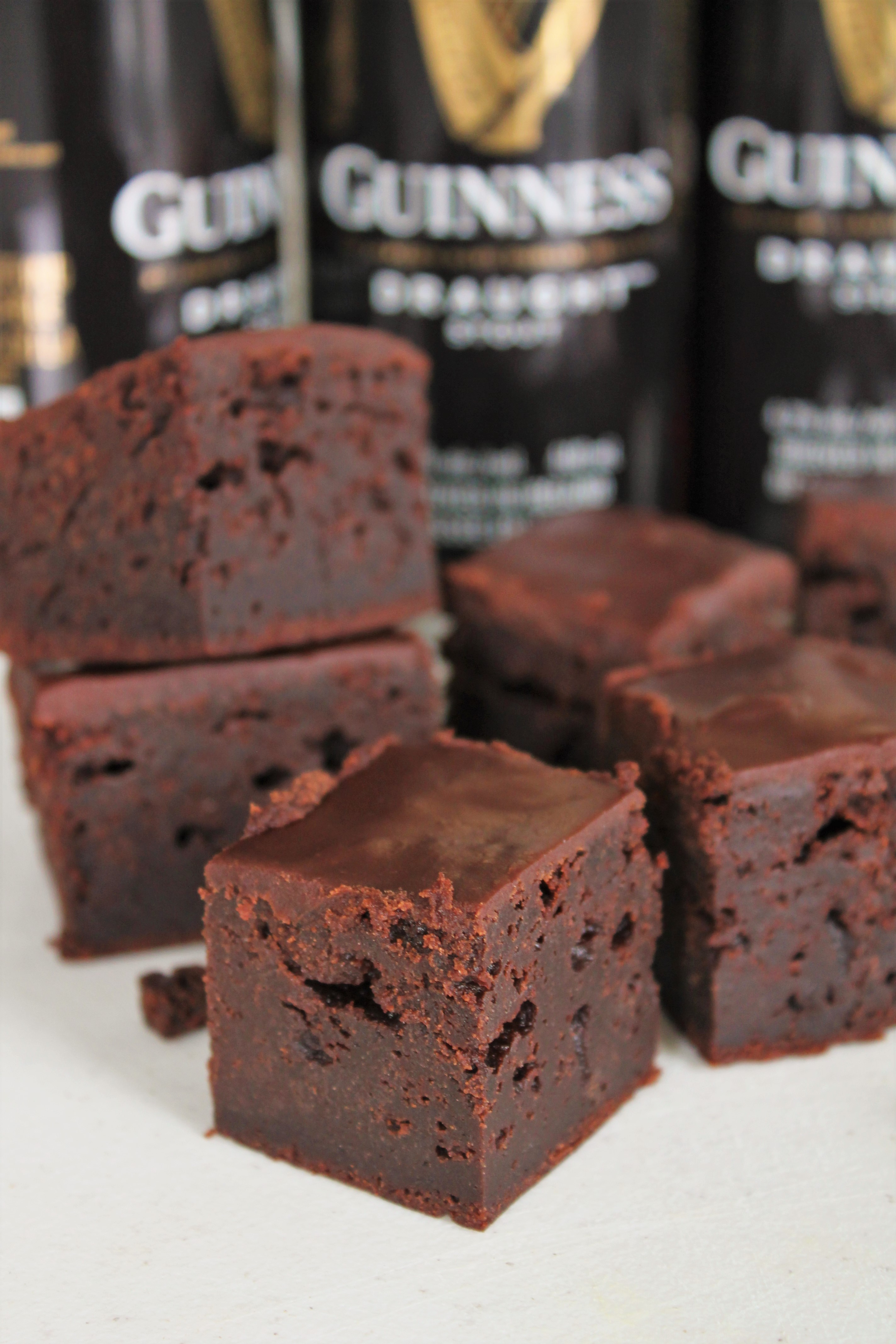 The Ultimate Guiness Brownies with Chocolate Ganache