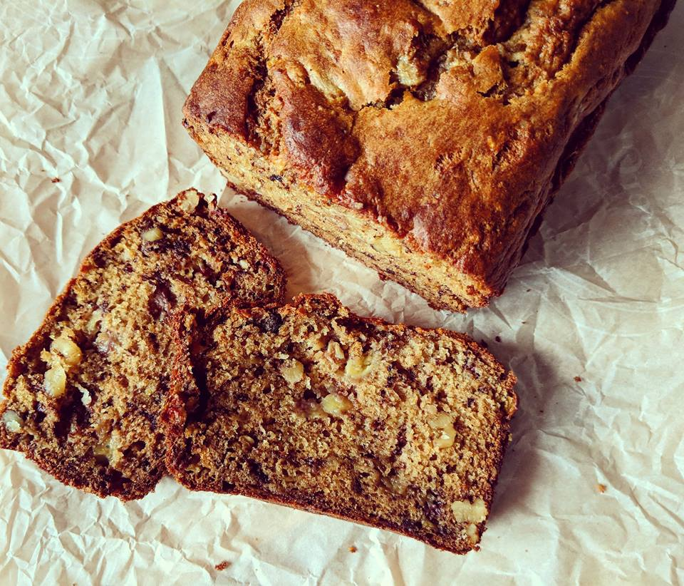 Healthy Whole Grain Walnut Banana Bread