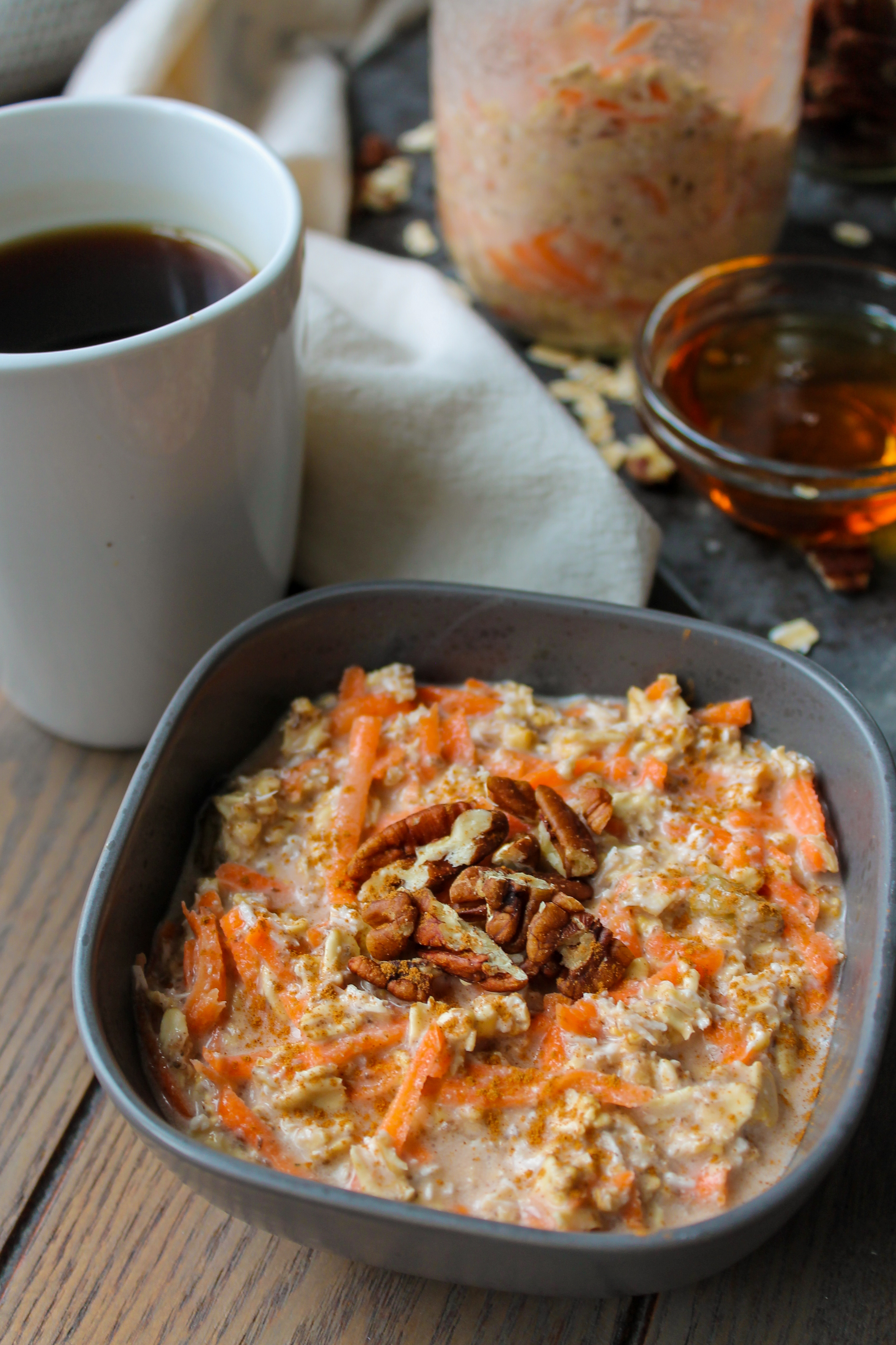 Carrot Cake Overnight Oats (GF, V)