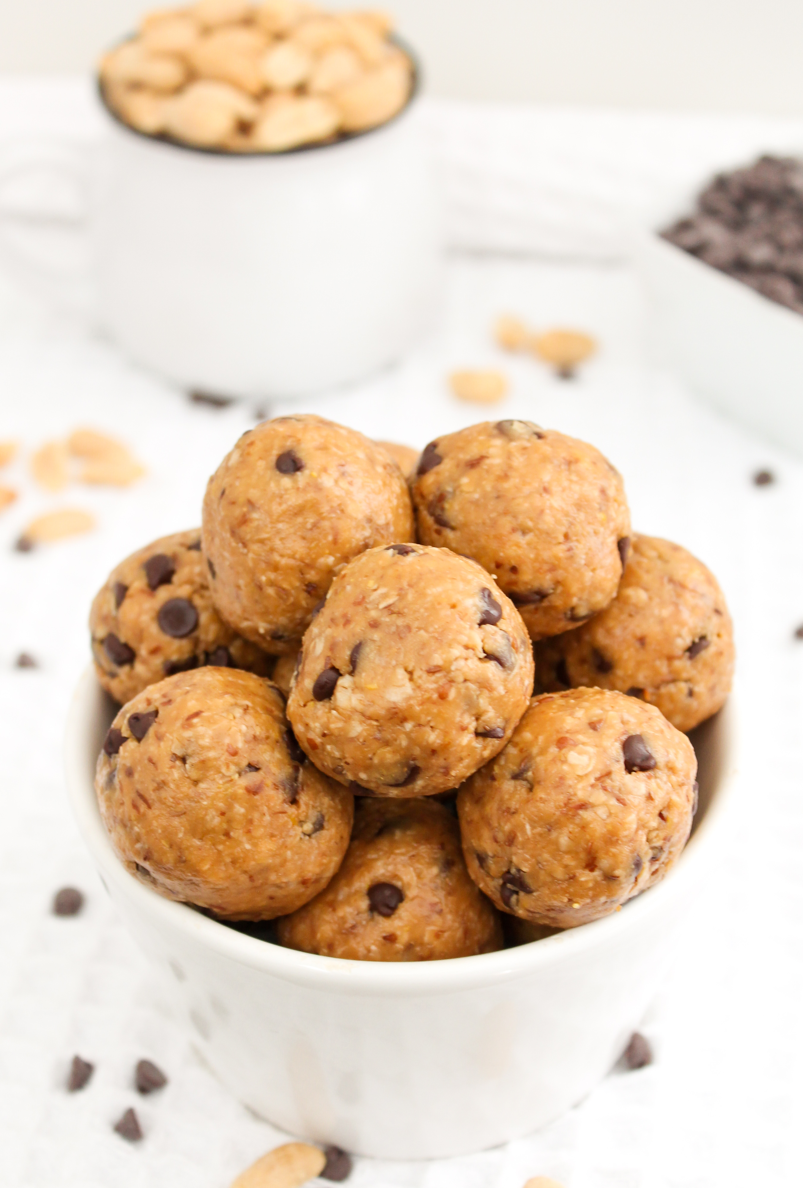 Peanut Butter Chocolate Chip Energy Protein Balls