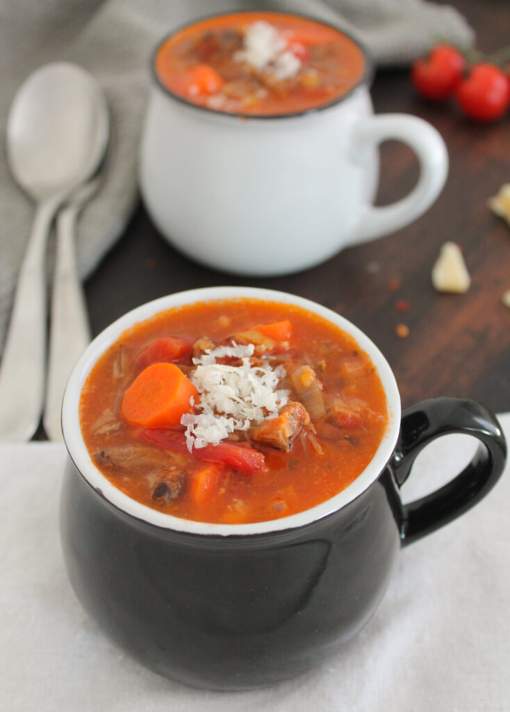 Italian Roasted Tomato Beef Soup
