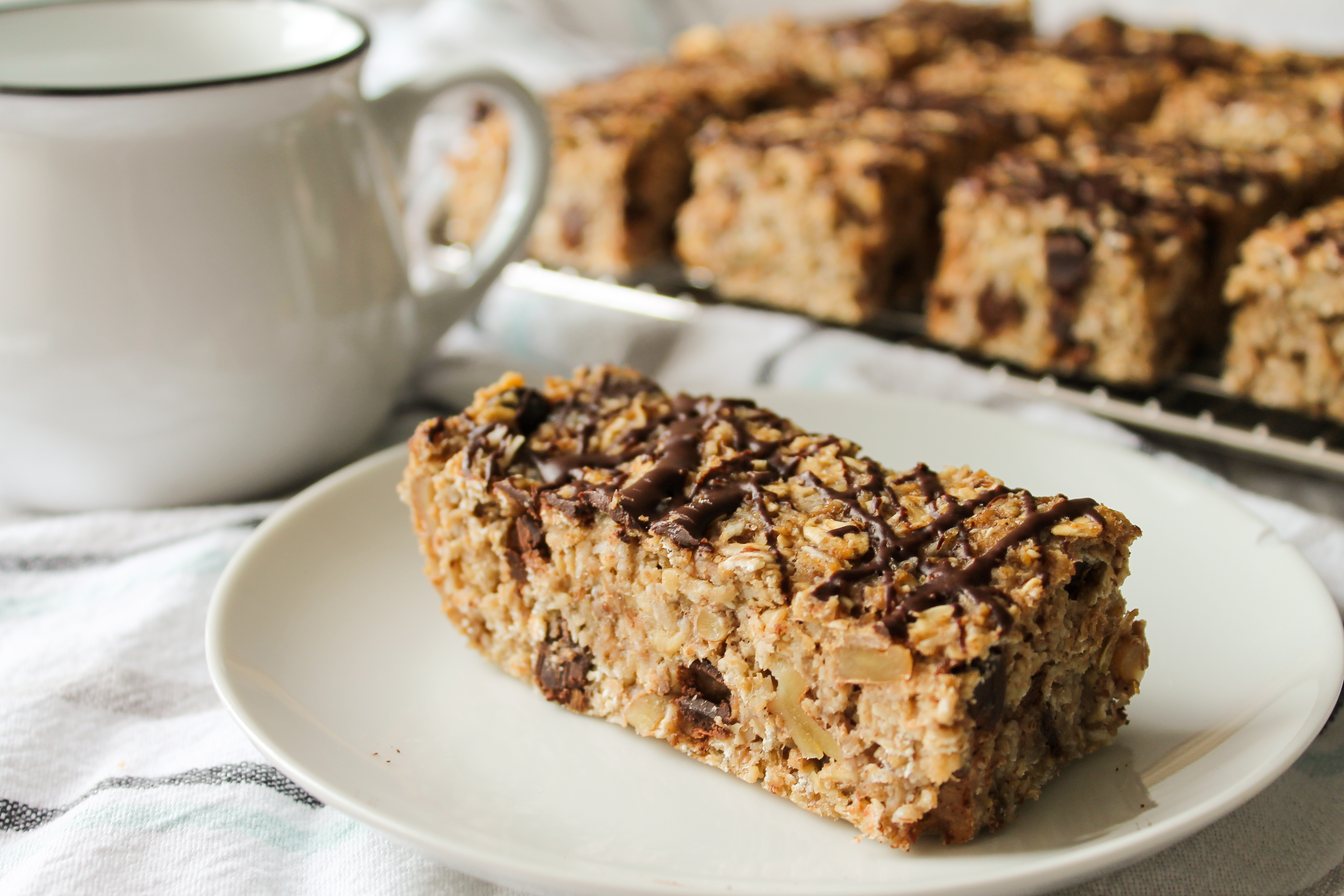 Chewy Banana Chocolate Breakfast Bars